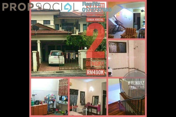 For Sale Terrace at Taman Kristal, Dengkil Freehold Semi Furnished 4R/3B 490k