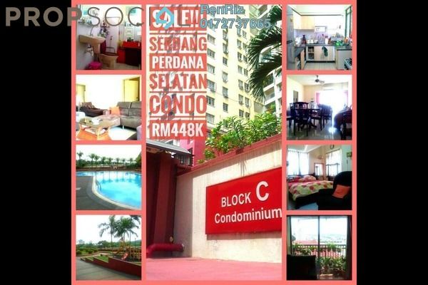For Sale Condominium at Taman Serdang Perdana, Seri Kembangan Freehold Fully Furnished 4R/2B 440k
