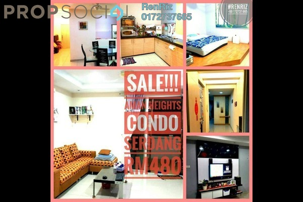 For Sale Condominium at Aman Heights, Seri Kembangan Freehold Semi Furnished 3R/2B 480k