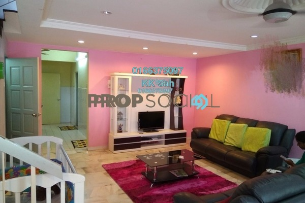 For Sale Link at Section 5, Bandar Mahkota Cheras Freehold Semi Furnished 4R/3B 609k