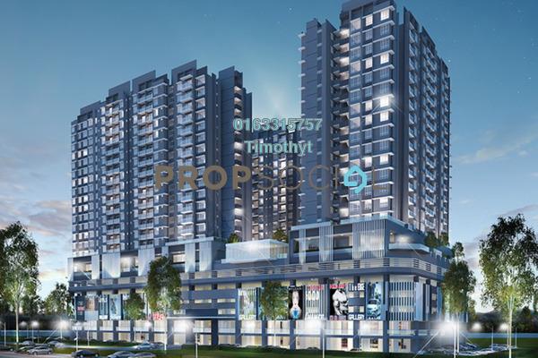 For Sale Condominium at Gaya Resort Homes, Bukit Rimau Freehold Semi Furnished 2R/2B 400k