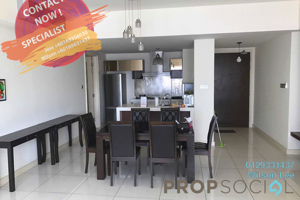 For Rent Condominium at Tiffani Kiara, Mont Kiara Freehold Fully Furnished 3R/3B 5k