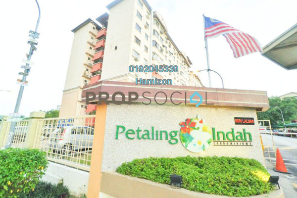 For Sale Condominium at Petaling Indah, Sungai Besi Freehold Semi Furnished 4R/2B 379k