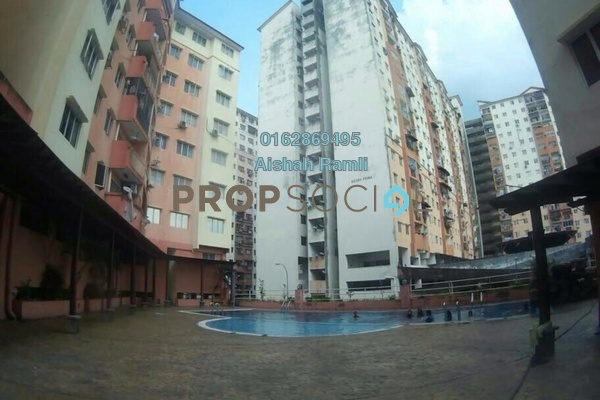 For Sale Apartment at Mesra Villa, Ampang Leasehold Semi Furnished 3R/2B 310k