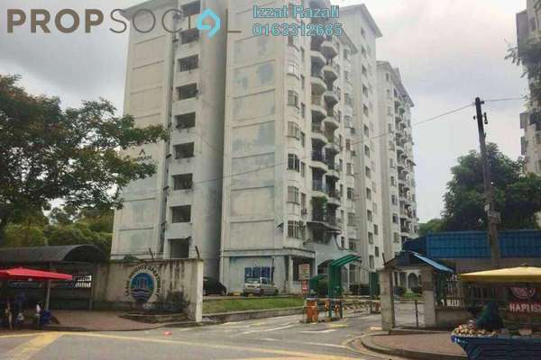 For Sale Apartment at Tasik Heights Apartment, Bandar Tasik Selatan Freehold Semi Furnished 3R/2B 320k