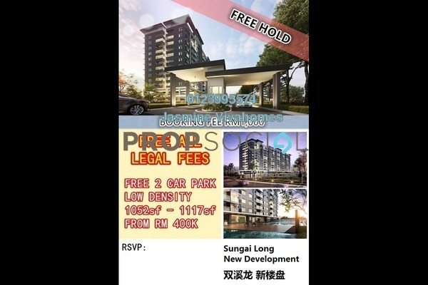For Sale Condominium at Camellia Residences, Bandar Sungai Long Freehold Unfurnished 3R/0B 416k