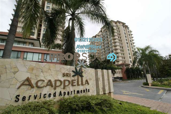 For Rent Serviced Residence at Sri Acappella, Shah Alam Freehold Fully Furnished 3R/3B 2.44k