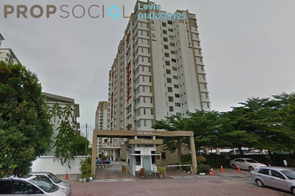 For Rent Condominium at The Heron Residency, Puchong Freehold Fully Furnished 3R/2B 1.5k