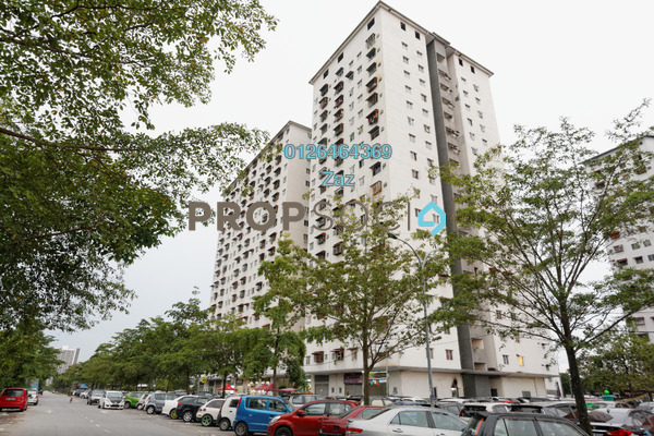 For Sale Apartment at Pangsapuri Rimba 2, Shah Alam Freehold Unfurnished 3R/2B 195k
