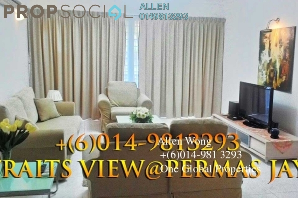 For Rent Condominium at Straits View Condominium, Bandar Baru Permas Jaya Freehold Fully Furnished 3R/3B 2.8千