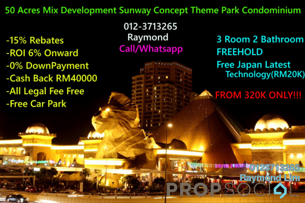 For Sale Condominium at Mines Waterfront Business Park, Seri Kembangan Freehold Semi Furnished 3R/2B 190k