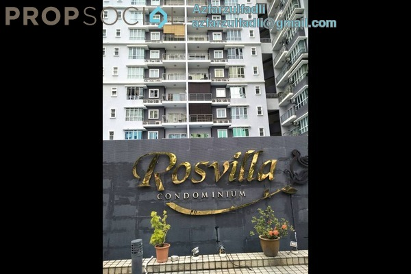 For Sale Condominium at Rosvilla, Segambut Freehold Fully Furnished 3R/2B 630k