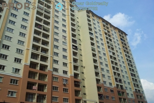 For Sale Condominium at Lakeview Apartment, Batu Caves Freehold Semi Furnished 3R/2B 280k