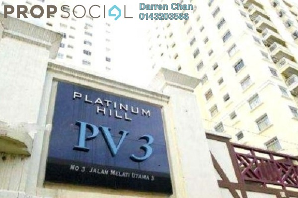 For Rent Condominium at Platinum Hill PV3, Setapak Freehold Fully Furnished 4R/2B 1.7k