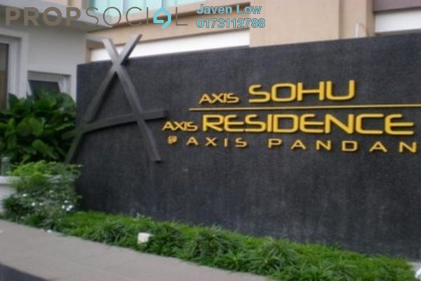 For Rent Condominium at Axis Residence, Pandan Indah Freehold Fully Furnished 2R/2B 1.8k