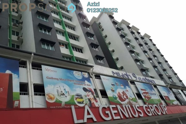 For Sale Apartment at Mewah 9 Residence, Kajang Freehold Semi Furnished 3R/2B 275k