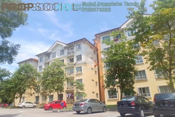 For Sale Apartment at Seroja Apartment, Bukit Jelutong Freehold Semi Furnished 3R/2B 300k