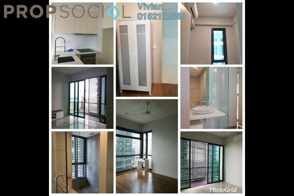 For Rent Condominium at Vogue Suites One @ KL Eco City, Mid Valley City Freehold Fully Furnished 1R/1B 3.8k