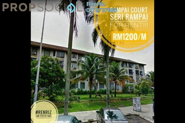 For Rent Apartment at Rampai Court, Setapak Freehold Semi Furnished 2R/1B 1.2k