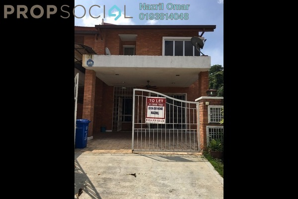 For Rent Terrace at Alam Budiman, Shah Alam Freehold Semi Furnished 4R/4B 1.6k
