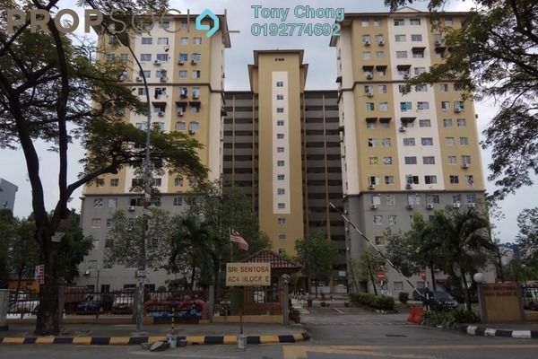For Rent Apartment at Taman Sri Sentosa, Old Klang Road Freehold Unfurnished 3R/2B 1.1k