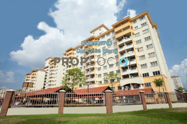 For Rent Apartment at Damansara Sutera, Kepong Freehold Semi Furnished 3R/2B 1.25k