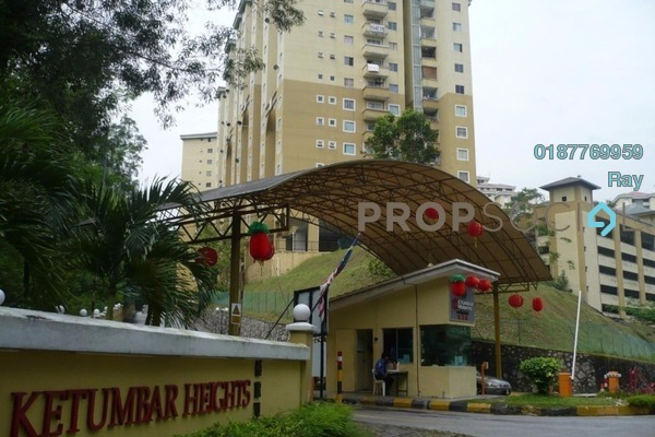 For Rent Apartment at Ketumbar Heights, Cheras Freehold Semi Furnished 3R/2B 1.2k