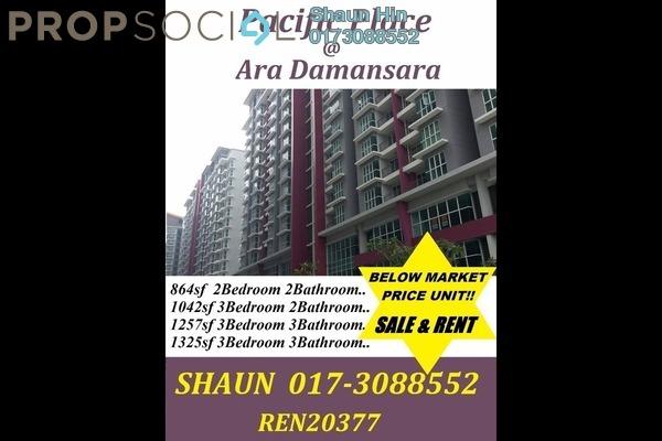 For Sale Condominium at Pacific Place, Ara Damansara Freehold Semi Furnished 2R/2B 500k