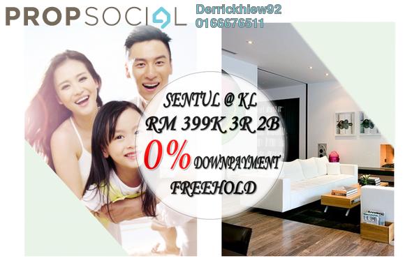 For Sale Condominium at Sentul Point, Sentul Freehold Unfurnished 3R/2B 399k