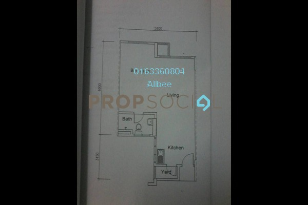 For Rent Condominium at Casa Tiara, Subang Jaya Freehold Fully Furnished 0R/1B 1.55k