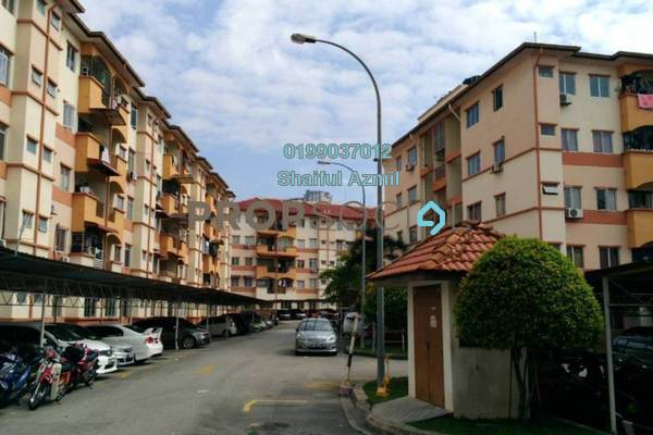For Sale Apartment at Taman Cheras Intan, Batu 9 Cheras Freehold Semi Furnished 3R/2B 285k