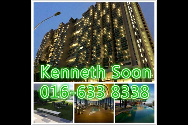 For Sale Condominium at The Leafz, Sungai Besi Freehold Semi Furnished 2R/2B 610k