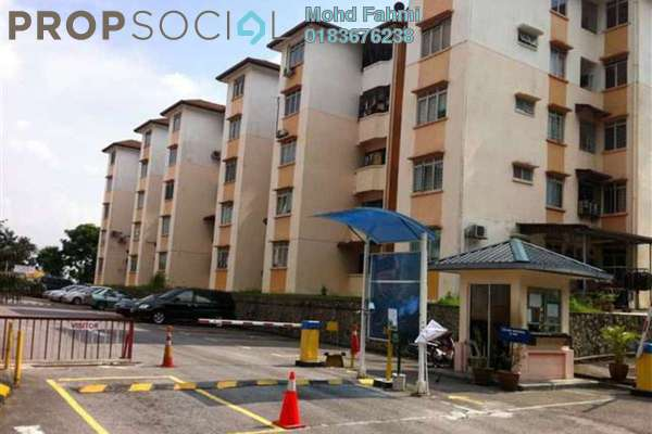 For Rent Apartment at Sri Melor Apartment, Ukay Freehold Semi Furnished 3R/2B 1.2k