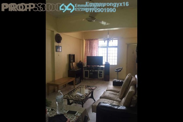 For Sale Apartment at Greenview Apartment, Kepong Leasehold Semi Furnished 3R/2B 198k