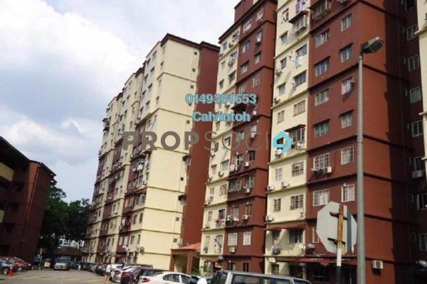 For Rent Apartment at Cemara Apartment, Bandar Sri Permaisuri Freehold Semi Furnished 3R/2B 1.1k