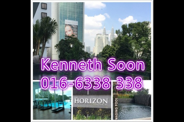For Sale Condominium at The Horizon Residences, KLCC Freehold Fully Furnished 2R/2B 1.15m
