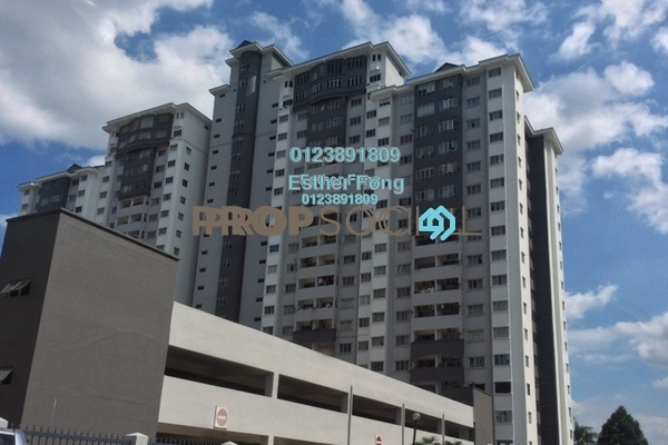 For Rent Condominium at Suria KiPark Damansara, Kepong Freehold Semi Furnished 3R/2B 1.1k