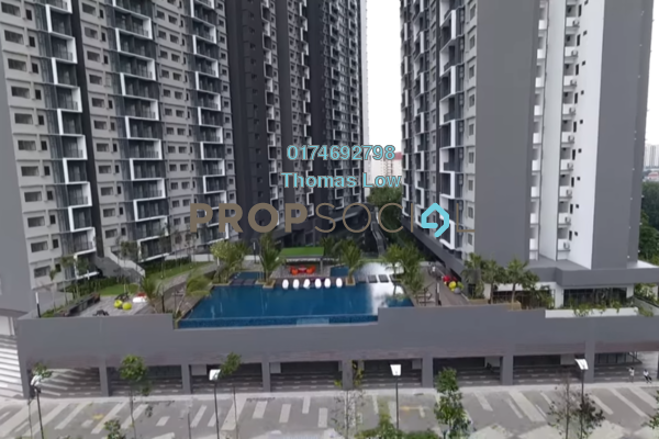 For Sale Serviced Residence at Seasons Garden Residences, Wangsa Maju Freehold Semi Furnished 3R/2B 510k