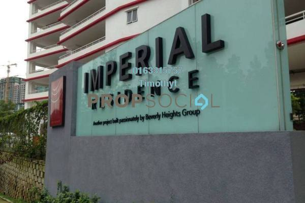 For Rent Condominium at Imperial Residence, Cheras South Freehold Unfurnished 3R/2B 1.2k