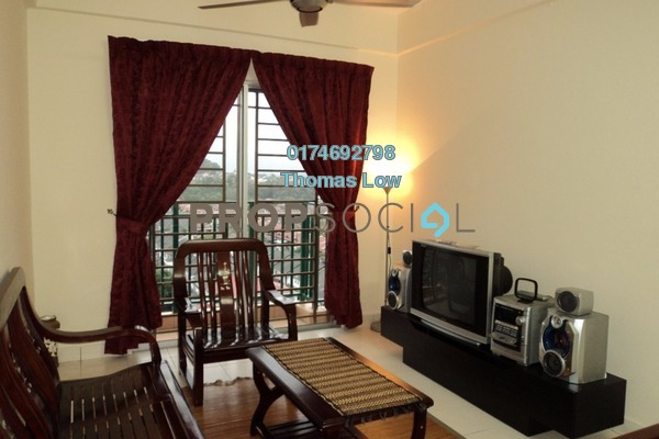 For Rent Apartment at Saujana Gombak Apartment, Batu Caves Freehold Semi Furnished 3R/2B 1.2k