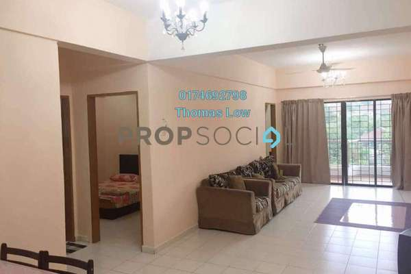 For Rent Apartment at Taman Harmonis, Gombak Freehold Fully Furnished 3R/2B 1.5k