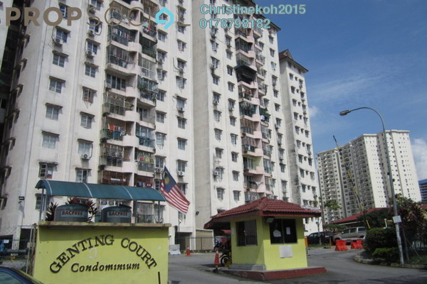 For Sale Apartment at Genting Court, Setapak Leasehold Unfurnished 3R/2B 300k