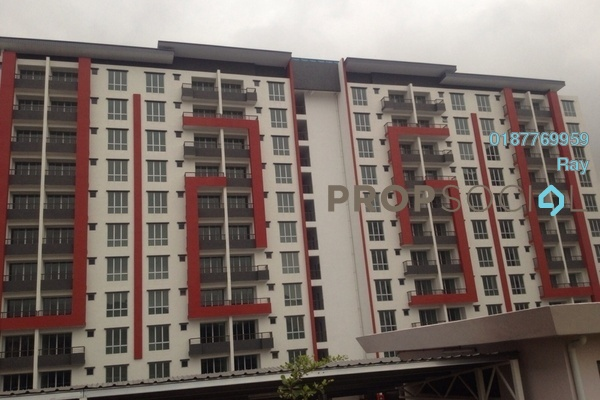 For Rent Apartment at Green Suria Apartment, Bandar Tun Hussein Onn Freehold Semi Furnished 4R/2B 1k