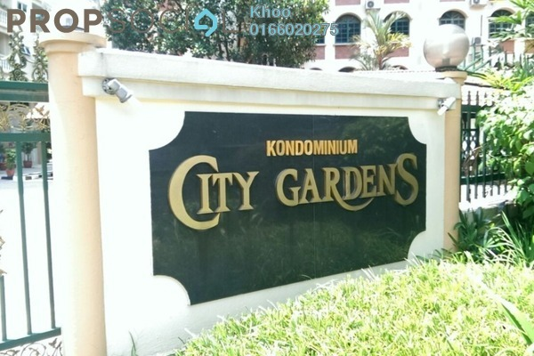 For Rent Condominium at City Gardens, Bukit Ceylon Freehold Fully Furnished 3R/2B 2.6k