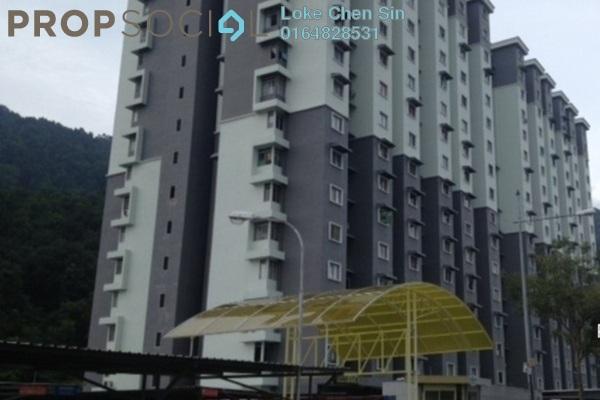 For Rent Condominium at Permai Jaya Apartment, Tanjung Bungah Freehold Semi Furnished 3R/2B 1k