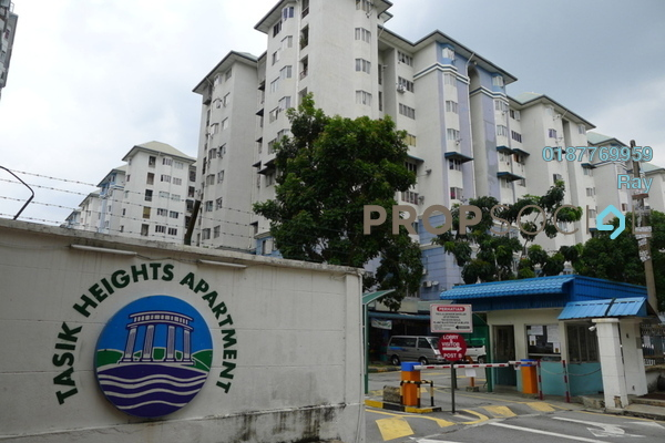 For Rent Apartment at Tasik Heights Apartment, Bandar Tasik Selatan Freehold Semi Furnished 3R/2B 1.2k