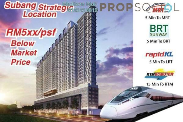 For Sale Condominium at The Edge Residen, Subang Jaya Freehold Semi Furnished 3R/2B 578k