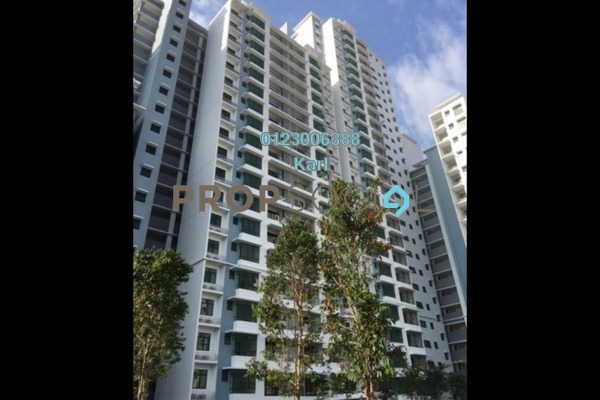 For Rent Condominium at Fortune Perdana Lakeside, Kepong Freehold Semi Furnished 3R/2B 1.65k