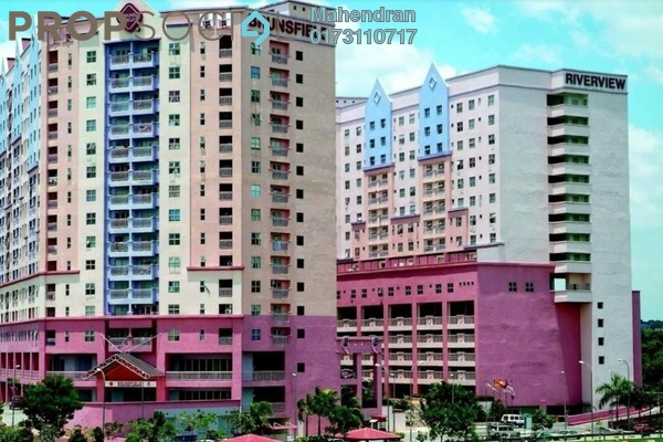 For Rent Apartment at Brunsfield Riverview, Shah Alam Freehold Semi Furnished 2R/2B 1.2k