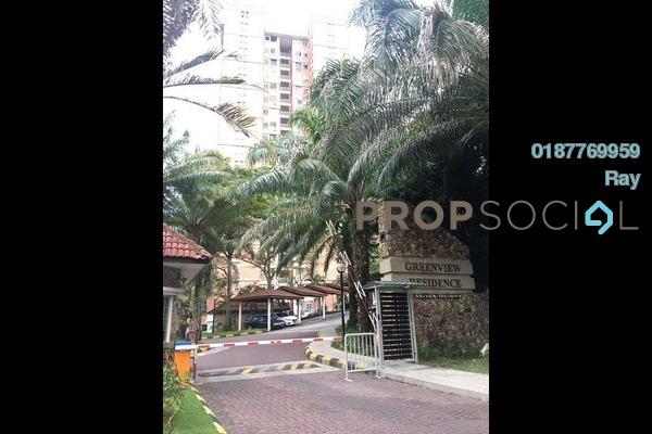 For Rent Condominium at Greenview Residence, Bandar Sungai Long Freehold Semi Furnished 3R/2B 1.1k